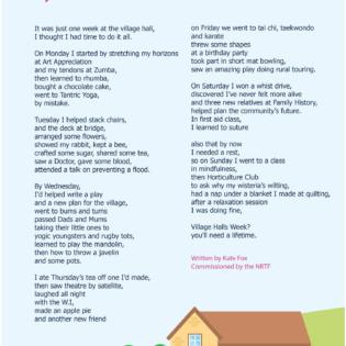 Village Halls Week 2019 Poem