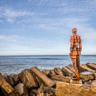 Artsreach help the Landmark Trust celebrate their 50th Anniversary with LAND by Antony Gormley