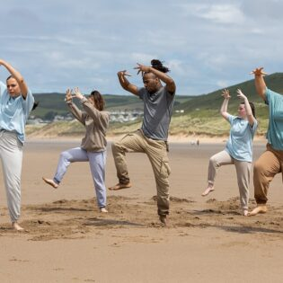 Local young people feature in professional dance film shot on Woolacombe Beach
